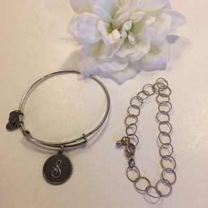 Silver Bracelet Bundle Alex and Ani S and Links